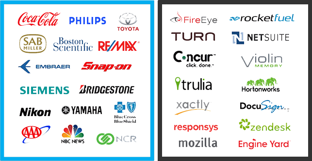 Adaptive - des clients de toutes tailles -Biggest Brands and Hottest Companies