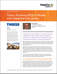 Thiess Success Story Adaptive Discovery