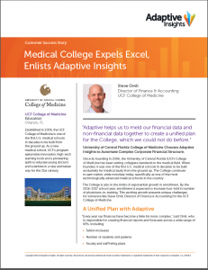 University of Central Florida UCF College of Medicine Success Story Adaptive Planning