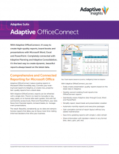 Adaptive OfficeConnect Datasheet