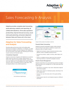 Sales Forecasting & Analysis