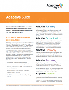 Adaptive Insights Suite Documentation