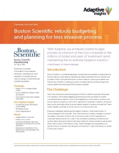 Boston Scientific Adaptive Insights Planning