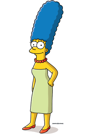 Marge Simpson en seconde position quand on tape marge