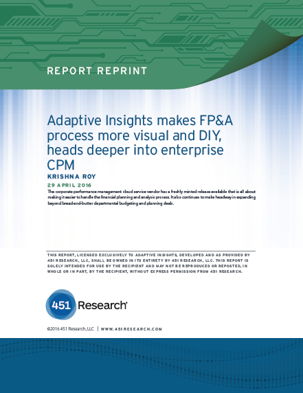 Adaptive Insights makes FP&A process more visual and DIY